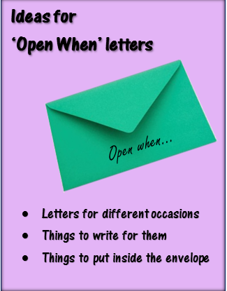 Ideas for 'Open When' Letters – bethsartcrafts.com