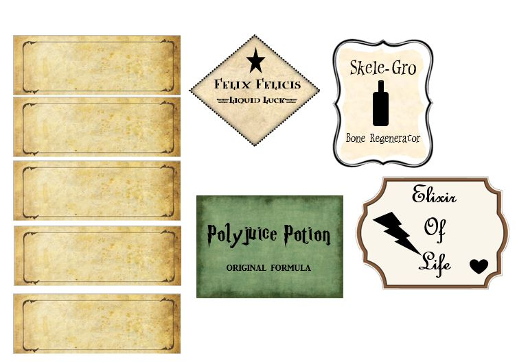 image regarding Printable Harry Potter Potion Labels titled How in the direction of host an outstanding HARRY POTTER THEMED Bash