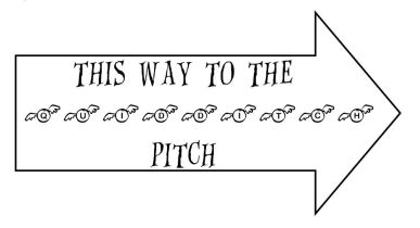 QUIDDITCH sign
